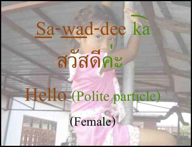 Learn Thai sawaddee ka