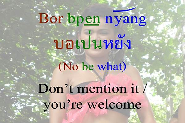 Learn Thai You're welcome