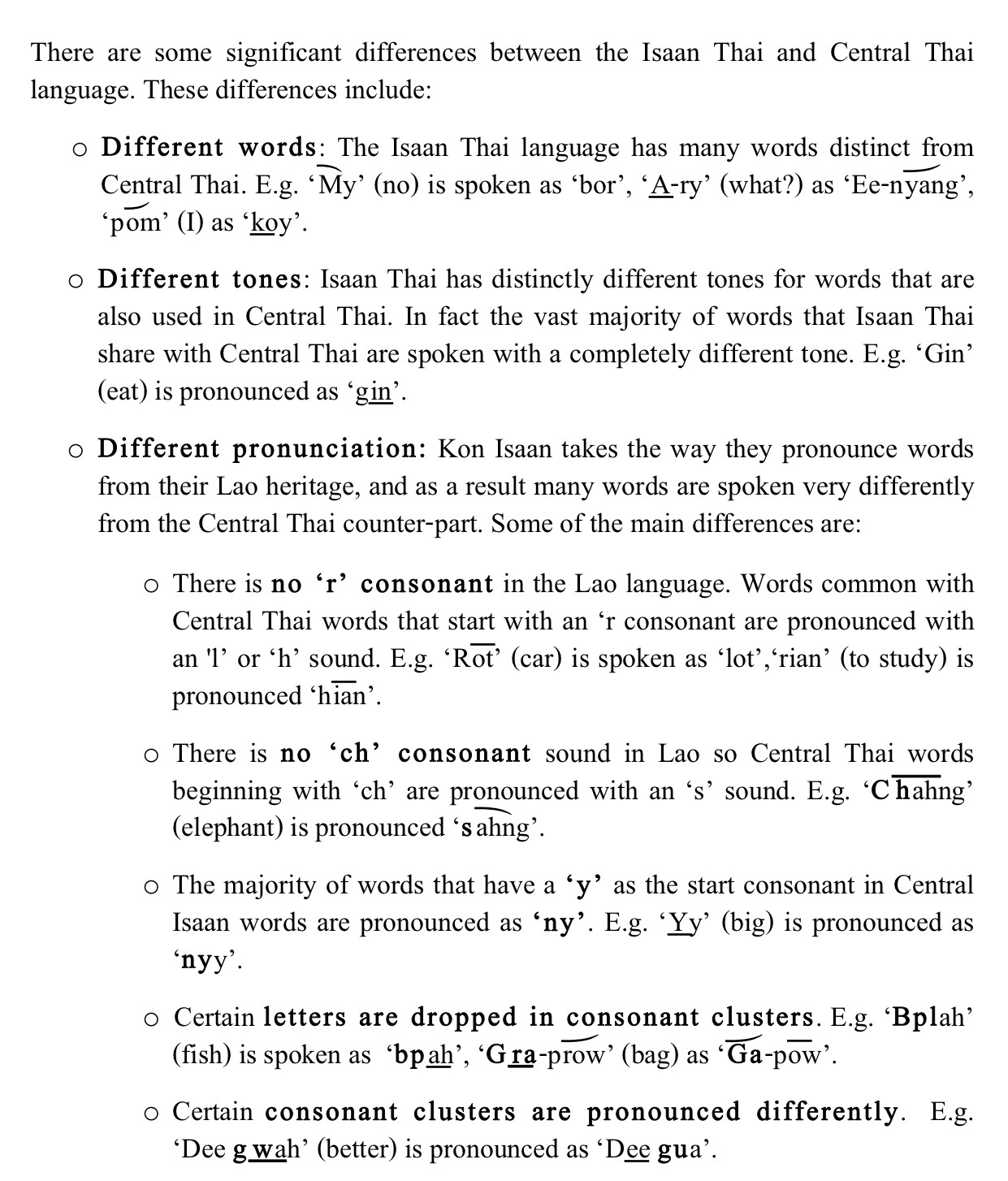 Isaan And Central Thai Differences Http Www Learnspeakthai Content Images V Laos