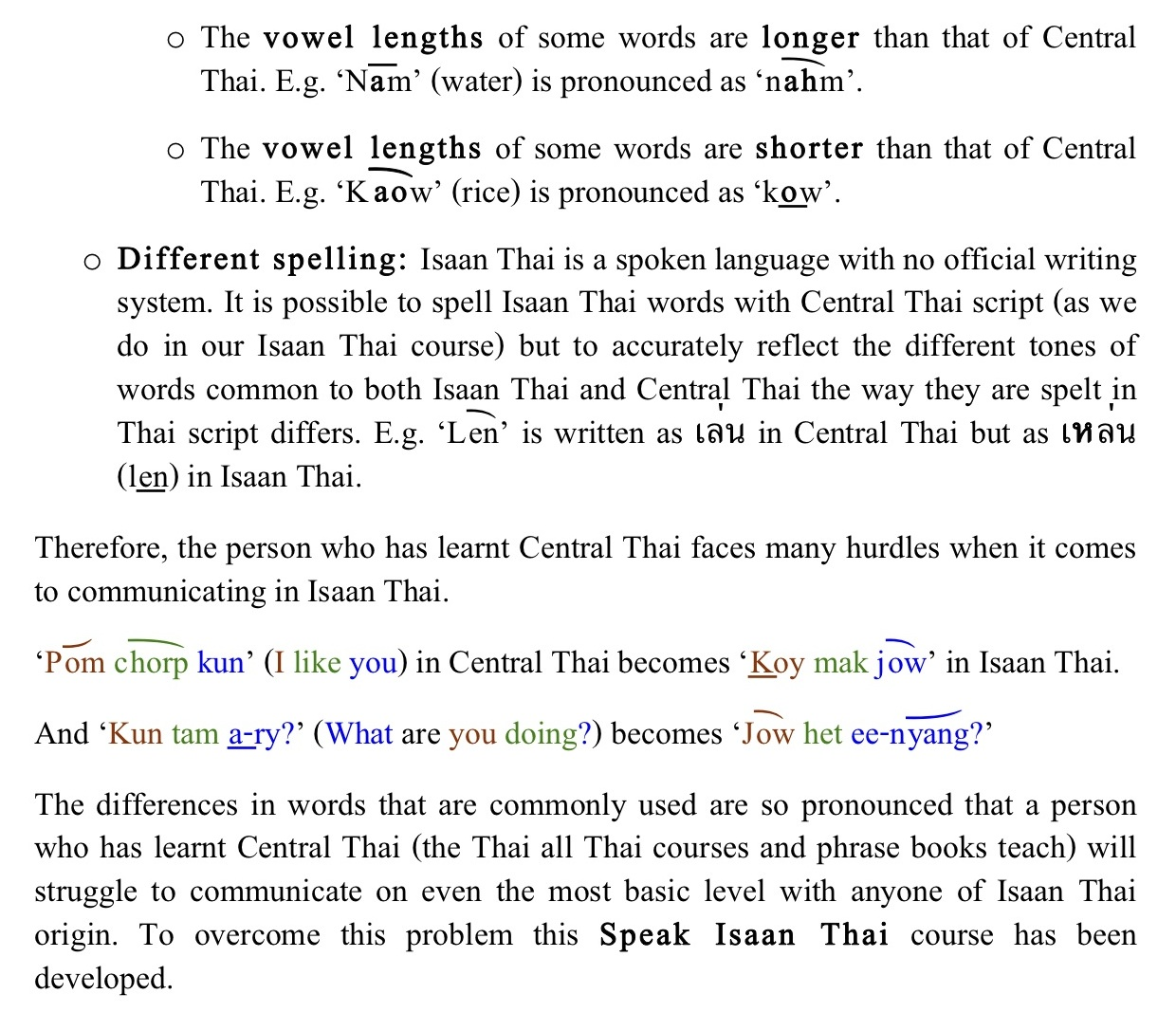 Http Www Learnspeakthai Content Images Isaan V Laos