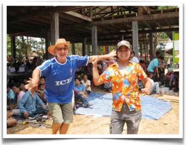 Farang Dancing With Thai Wife