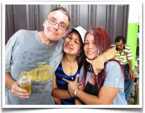 Farang With Thai Wife And Friend