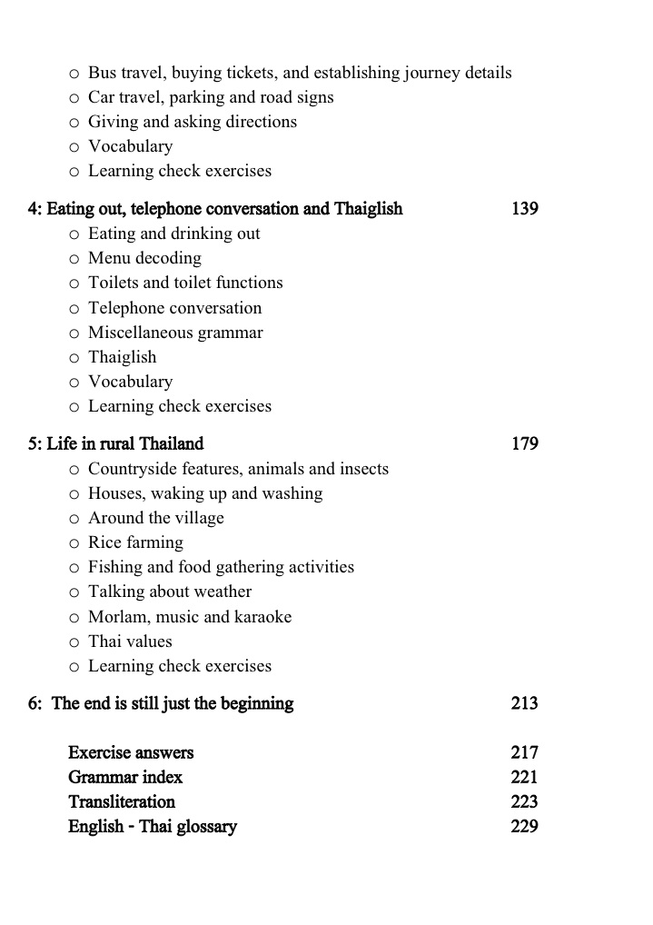 Speak Thai 2 Contents 2