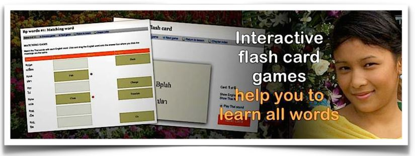 Learn Thai Word Flashcard Games Link