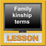 Family and Kinship Terms Lesson Module