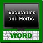 Thai Vegetable and Herbs Word Module
