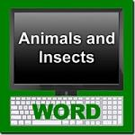 Animals and Insects Word Module